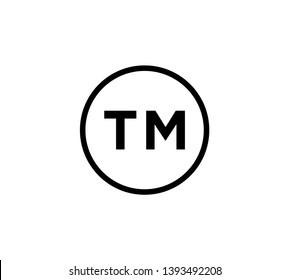 Trademark icon vector logo template