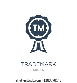 trademark icon vector on white background, trademark trendy filled icons from Shapes collection, trademark vector illustration