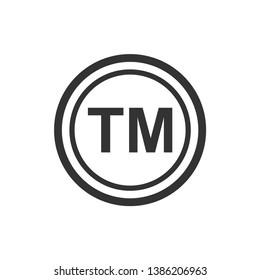 Trademark register symbol icon vector templates