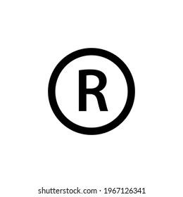 Trademark symbol icon. Clipart image isolated on white background