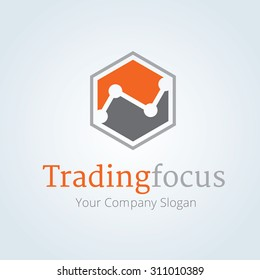 Trading focus logo template