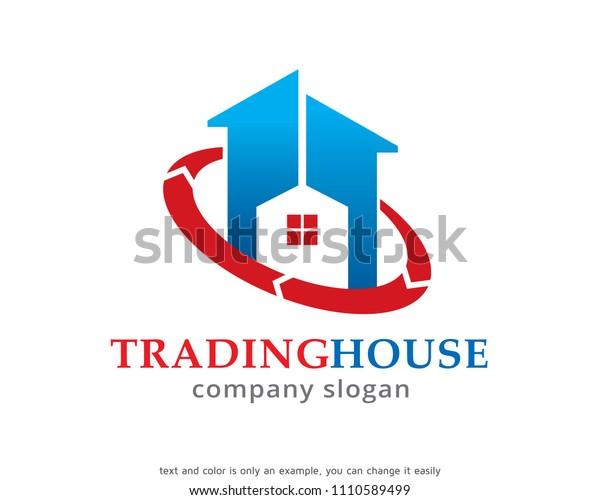Trading House Logo Symbol Template Design Stock Vector ...