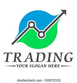 Trading logo template design