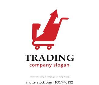 Trading Logo Template Design Vector, Emblem, Design Concept, Creative Symbol, Icon
