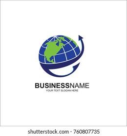 Trading vector logo, finance logo, global trade analysis logo, design vector illustration