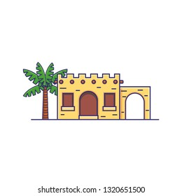 Tradional Tribe Arabic Middle Eastern House Vector Icon