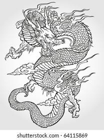 Tradition Asian Dragon Illustration