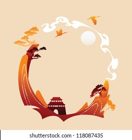 Traditional abstract asian background