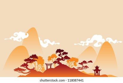 Traditional abstract chines background