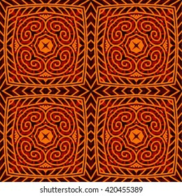 Traditional African Tribal Kitenge Inspired Seamless Pattern