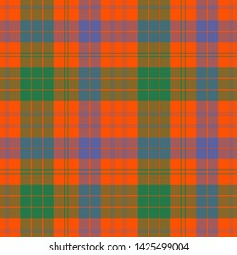 The Traditional Ancient Tartan of the Scottish Clan Ross. Seamless pattern for fabric, kilts, skirts, plaids