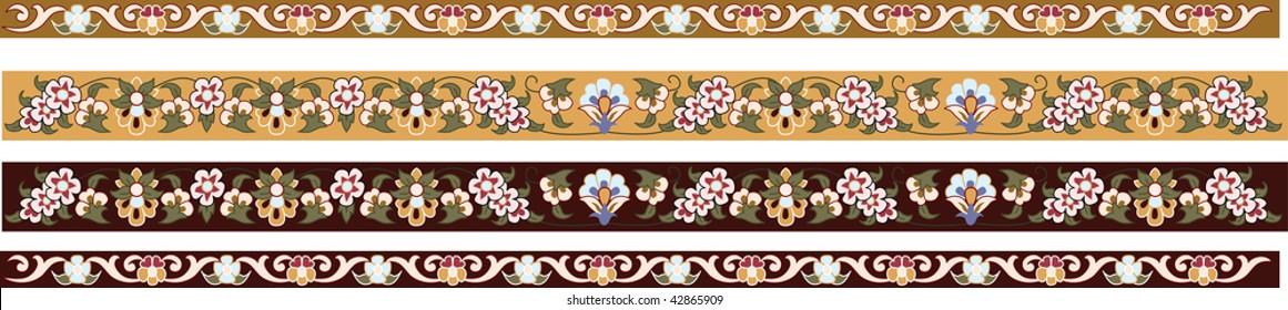 Traditional antique ottoman turkish vector design