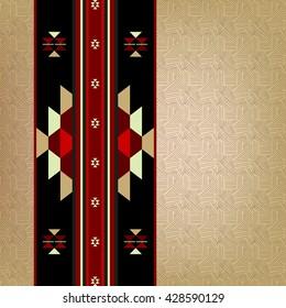 Traditional Arabian Rug Motif