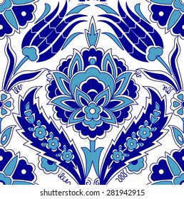 Traditional Arabic ornament seamless pattern for your design. Vector