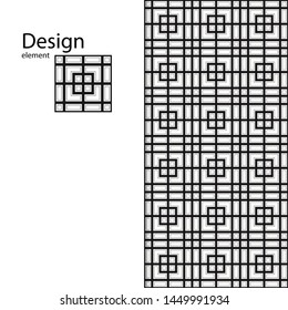Traditional Arabic seamless geometric pattern for your design, laser cutting, stamping on leather, cardboard, paper. Interior design, graphic design. Drawing for sandblasting glass. Printing on fabric