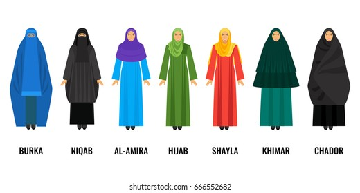 Quel vêtement préconise l'islam ? Traditional-arabic-women-clothing-isolated-260nw-666552682