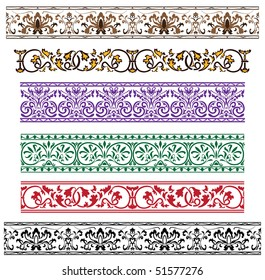 Traditional architectural ornament set for design