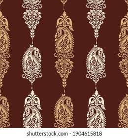 Traditional Asian paisley pattern design