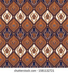 Traditional batik design pattern vector