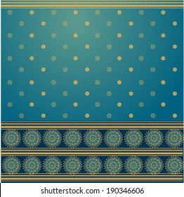 traditional blue and golden saree background