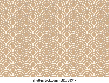 Traditional, Brown japanese pattern.Vector art.