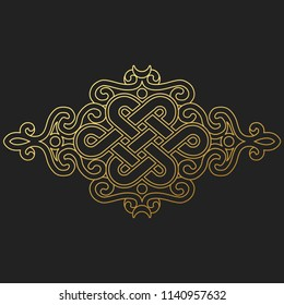 traditional buddhist symbol of luck on black background.Vector illustration