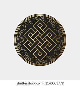 Traditional buddhist symbol of luck. Vector illustration