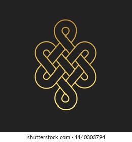 Traditional buddhist symbol of luck. Vector illustration