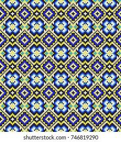 Traditional Bukovina folk art knitted embroidery pattern.