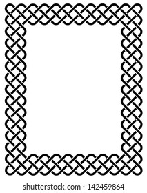 Traditional Celtic knot braided frame.