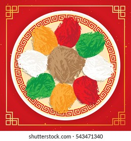 """Traditional Chinese dish """"Lou Sang"""", """"Yu Shang"""". Usually as the appetizer due to its symbolism of """"good luck"""" for the new year"""