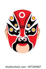 Traditional Chinese opera mask