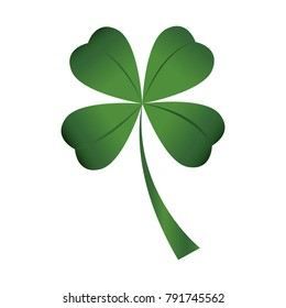 Traditional clover on a white background, Vector illustration