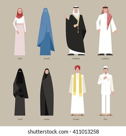 Traditional costumes of the world vector design