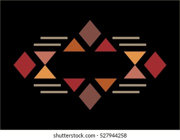 Traditional culture inspired simple geometric symbol. Abstract tribal elements. Vector illustration.