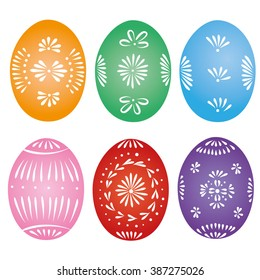 Traditional decorative easter eggs