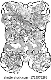 Chinese Dragon Drawing Images Stock Photos Vectors Shutterstock