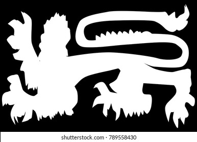 The traditional English lion in silhouette as found on shields other items of British royalty