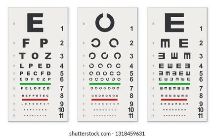 Eye Chart Images Stock Photos Vectors Shutterstock