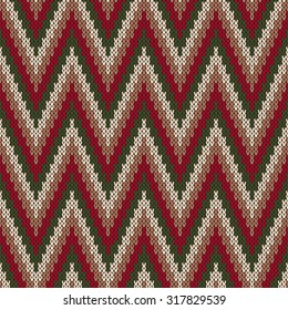 Traditional Fair Isle Pattern. Seamless Knitting Ornament