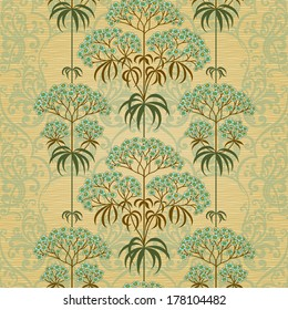 Traditional floral border in Victorian style. Place for text. Ornamental wallpaper in retro style. It can be used for wallpaper, pattern fills, web page background, surface textures, classic fabric.