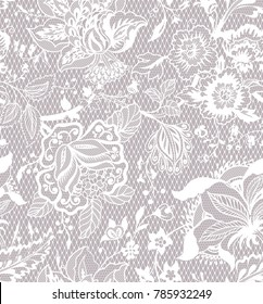 traditional floral ornament. in lace style