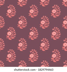 Traditional floral vector seamless pattern design
