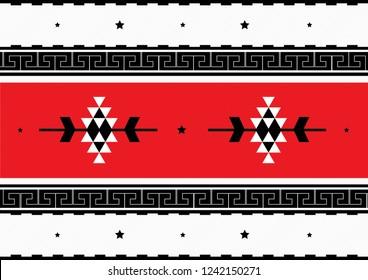 Traditional Folk Sadu Arabian Hand Weaving Pattern