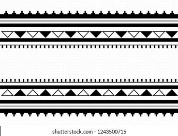 Traditional Folk Sadu Arabian Hand Weaving Pattern_Black&white