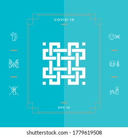 Traditional geometric oriental arabic pattern. Element for your design. Logotype
