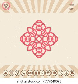 Traditional geometric oriental arabic pattern - Logo. Element for your design