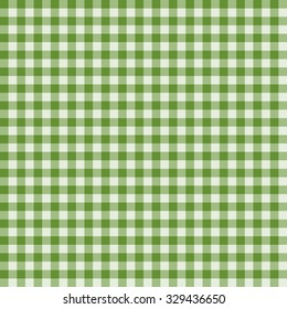 Traditional Gingham pattern in  green color. Seamless checkered vector pattern. Abstract geometric background.