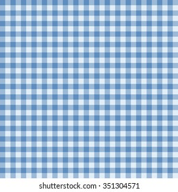 Traditional Gingham pattern in light blue color. Seamless checkered vector pattern. Abstract geometric background.