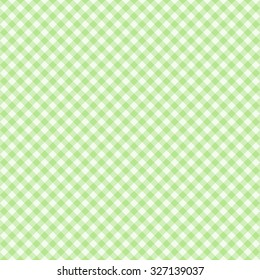 Traditional Gingham pattern in light green color. Seamless checkered vector pattern. Abstract geometric background.